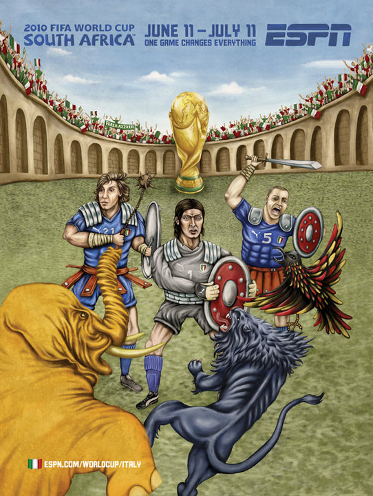 art blog - ESPN FIFA World Cup 2010 - empty kingdom