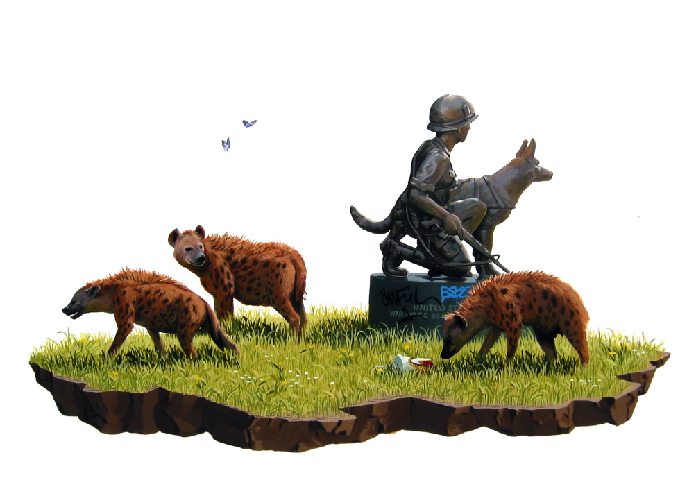 art blog - Josh Keyes - empty kingdom