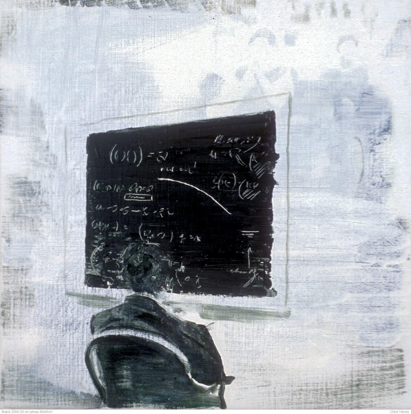 Board; 2004; Oil on canvas; 40x40cm