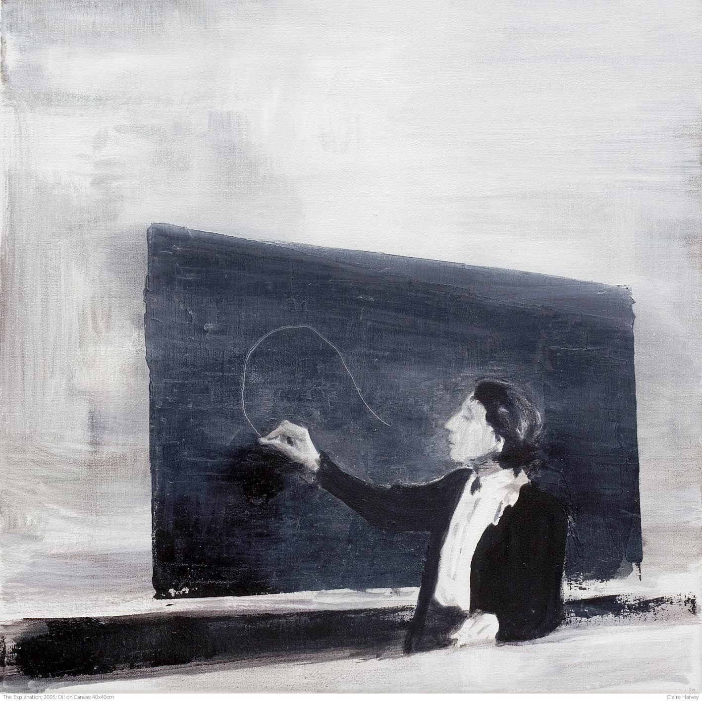 The Explanation; 2005; Oil on Canvas; 40x40cm
